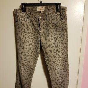 Current Elliot Leopard print jeans